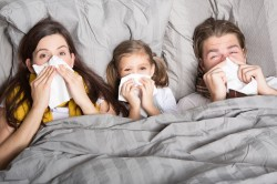 Распространение респираторной инфекции на членов семьи