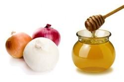 Средство из лука и меда для лечения ринита